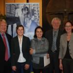 (v.l.n.r.: Dr. Thomas Antkowiak, Christine Burmann (NMRZ), Dr. Doris Katheder (CPH), Bürgermeister Horst Förther, Inge Rehm (Fenster zur Welt)
