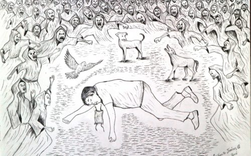 Zeichnung aus Peru
