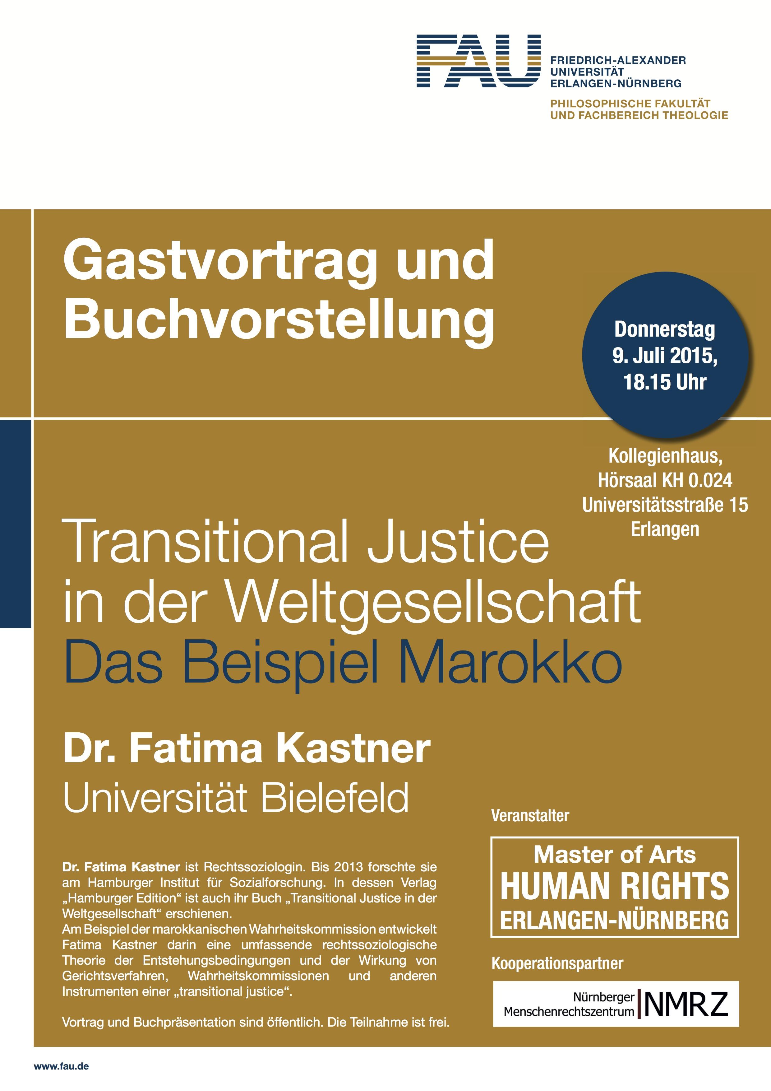 Transtional Justice - Gastvortrag und Buchvorstellung